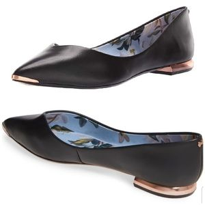 Ted Baker Mancie Pointed toe ballet flat black